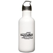 Electric Bass Word Cloud Water Bottle