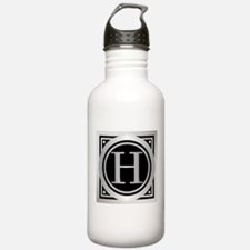 Deco Monogram H Water Bottle
