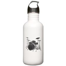 Drum Set Shaped Word Cloud Water Bottle