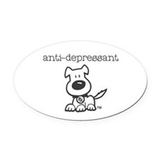 Anti Depressant Oval Car Magnet