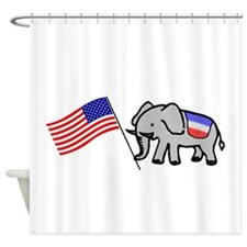 Elephant and flag Shower Curtain