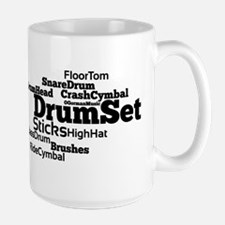 Drum Set Word Cloud Mugs