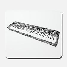 Keyboard Shaped Word Cloud Mousepad