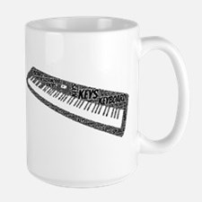 Keyboard Shaped Word Cloud Mugs