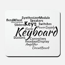 Keyboard Word Cloud Mousepad