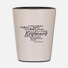 Keyboard Word Cloud Shot Glass