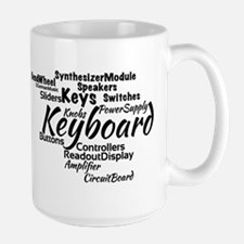 Keyboard Word Cloud Mugs