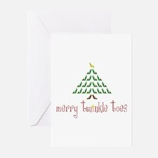 Merry Twinkle Toes Greeting Cards