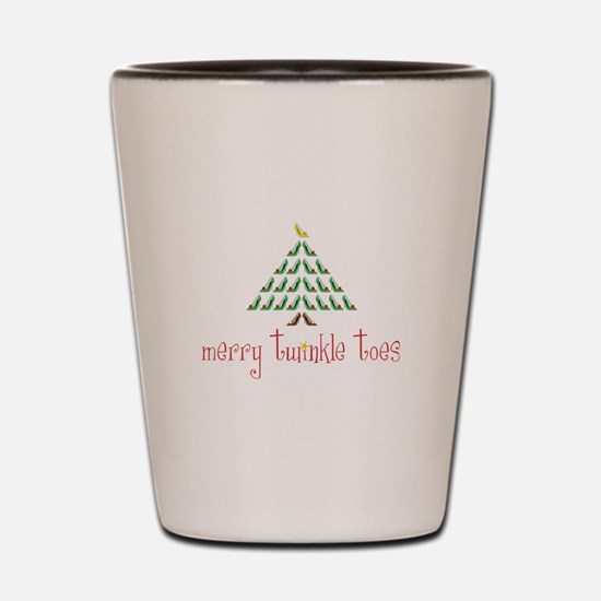 Merry Twinkle Toes Shot Glass