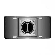 Deco Monogram I Aluminum License Plate