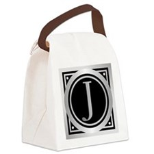 Deco Monogram J Canvas Lunch Bag