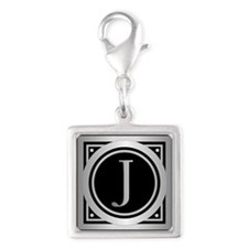 Deco Monogram J Charms