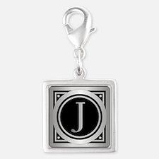 Deco Monogram J Charms