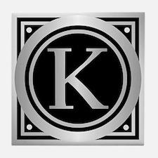 Deco Monogram K Tile Coaster
