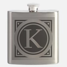 Deco Monogram K Flask