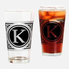 Deco Monogram K Drinking Glass