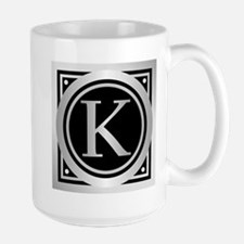 Deco Monogram K Mugs