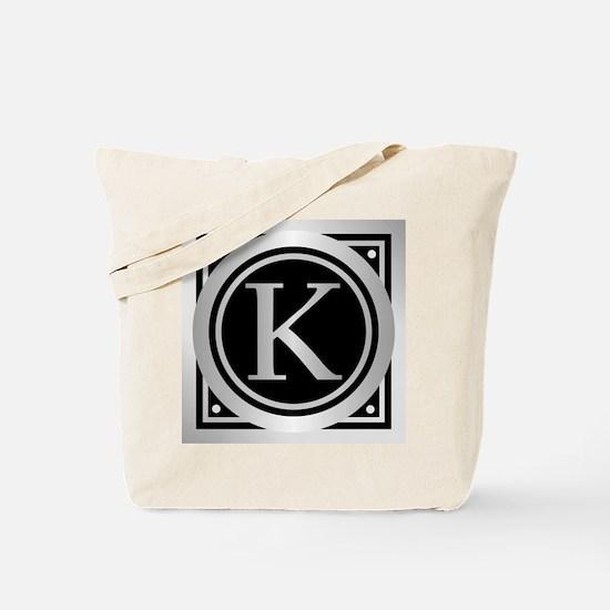 Deco Monogram K Tote Bag