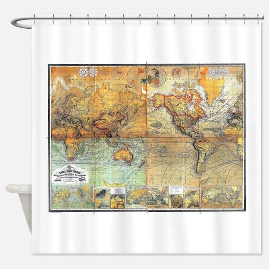 Nautical World Shower Curtain