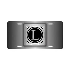 Deco Monogram L Aluminum License Plate