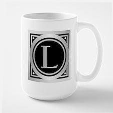 Deco Monogram L Mugs