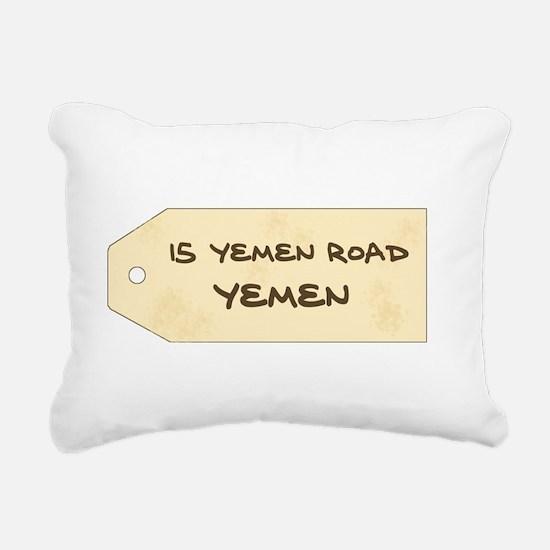 'Chandler's New Address' Rectangular Canvas Pillow