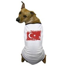 Grunge Turkey Flag Dog T-Shirt