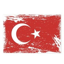 Grunge Turkey Flag Postcards (Package of 8)
