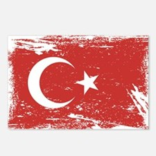 Grunge Turkey Flag Postcards (Package of 8)