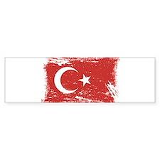 Grunge Turkey Flag Bumper Car Sticker