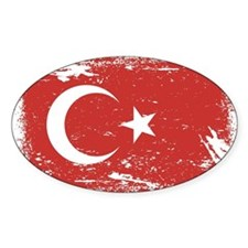 Grunge Turkey Flag Decal
