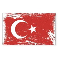 Grunge Turkey Flag Decal
