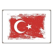 Grunge Turkey Flag Banner