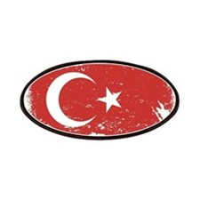 Grunge Turkey Flag Patches