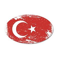 Grunge Turkey Flag Wall Decal