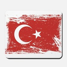 Grunge Turkey Flag Mousepad