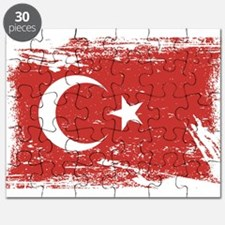 Grunge Turkey Flag Puzzle