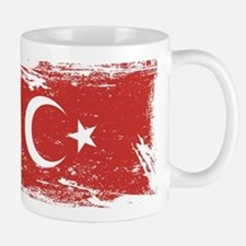 Grunge Turkey Flag Mugs
