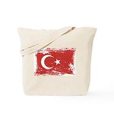 Grunge Turkey Flag Tote Bag