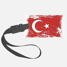 Grunge Turkey Flag Luggage Tag