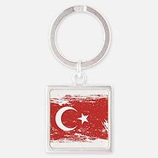 Grunge Turkey Flag Keychains