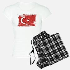 Grunge Turkey Flag Pajamas