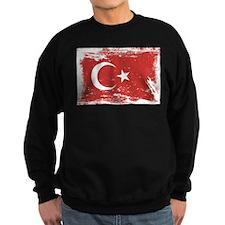 Grunge Turkey Flag Sweatshirt