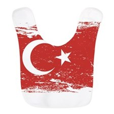 Grunge Turkey Flag Bib