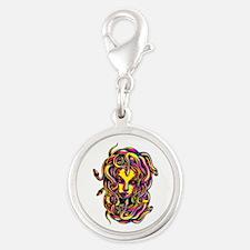 CMYK Medusa Silver Round Charm