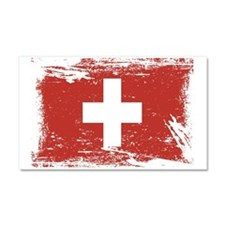 Grunge Switzerland Flag Car Magnet 20 x 12