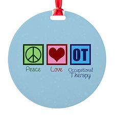 Peace Love OT Ornament