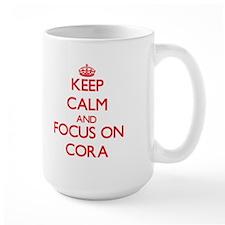 Keep Calm and focus on Cora Mugs