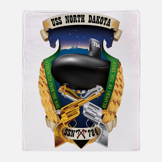 Uss North Dakota Ssn-784 Throw Blanket