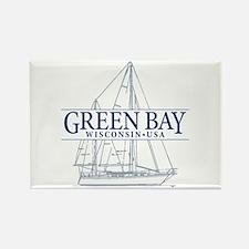 Green Bay - Rectangle Magnet